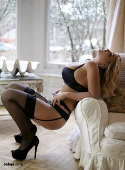 women in lingerie and stockings and white thigh high stockings