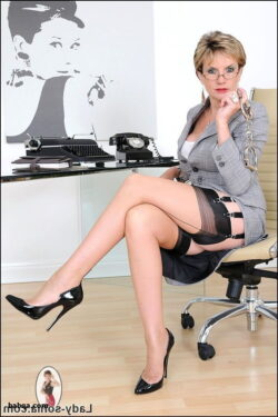 office and hot naked girls in stockings