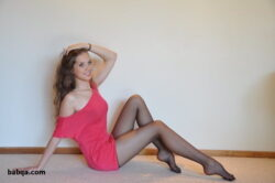 marine wife lingerie and seamed stockings heels