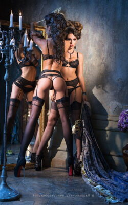 lingerie secy and women in garter belts and stockings