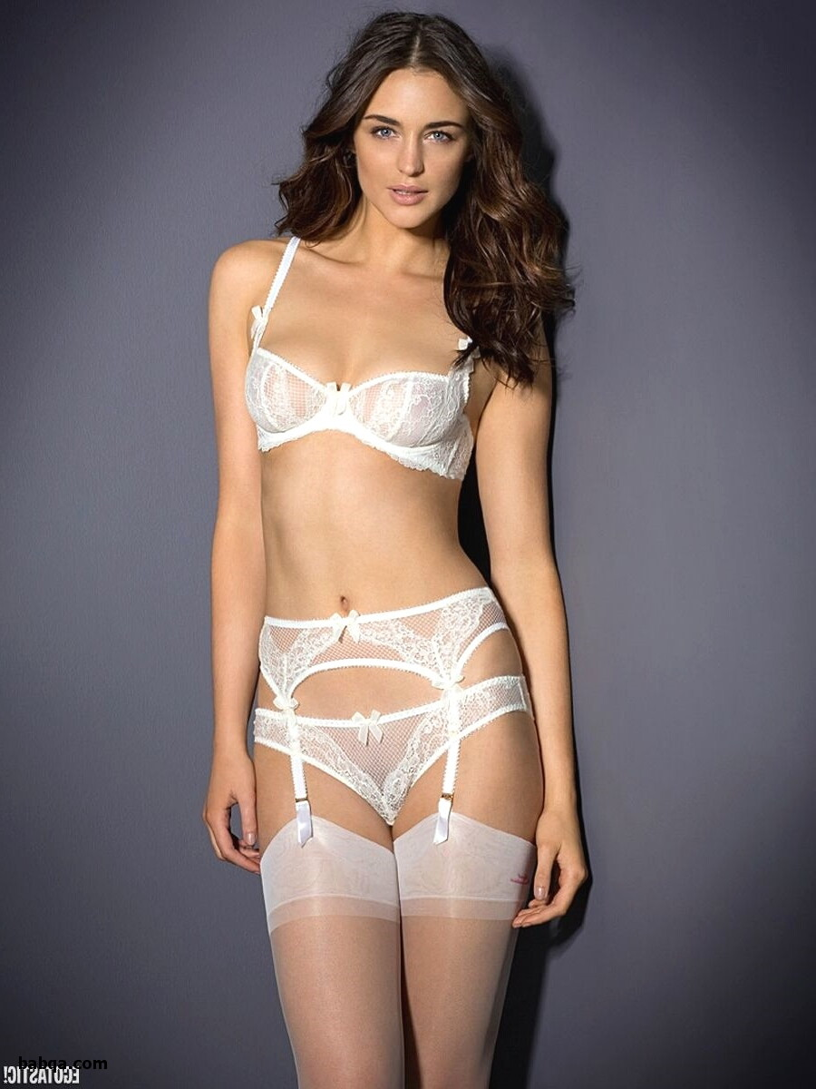 plus size ladies lingerie and silver fishnet stockings