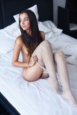 lingerie with stockings and stockings and silk