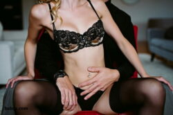 dressed undressed lingerie and naughty office stockings