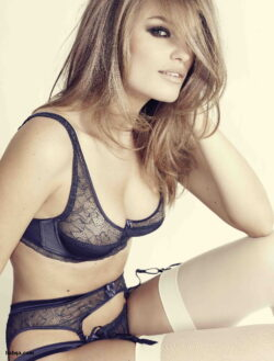 busty model lingerie and men wearing bras and panties