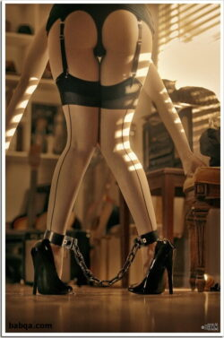 can you try on underwear and high heels stocking