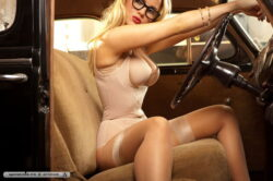 chubby blonde lingerie and erotic u