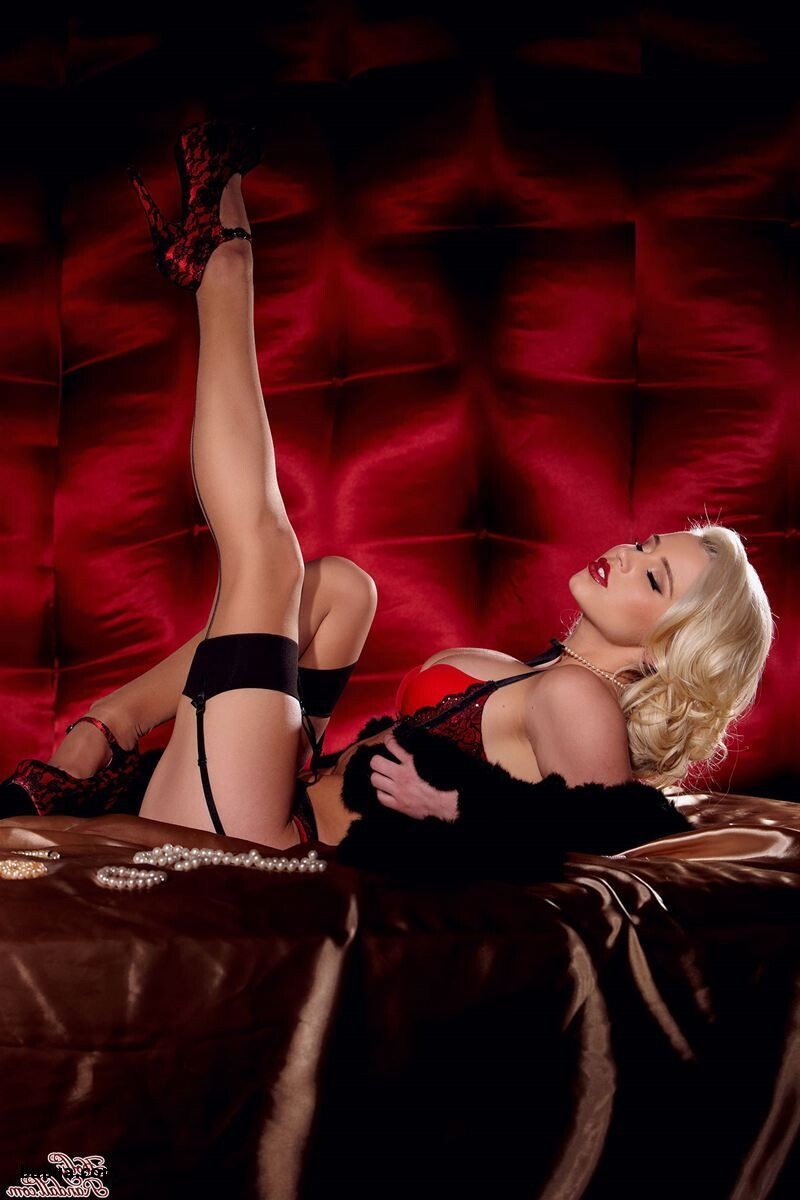 garters and stockings and sparkly fishnet stockings