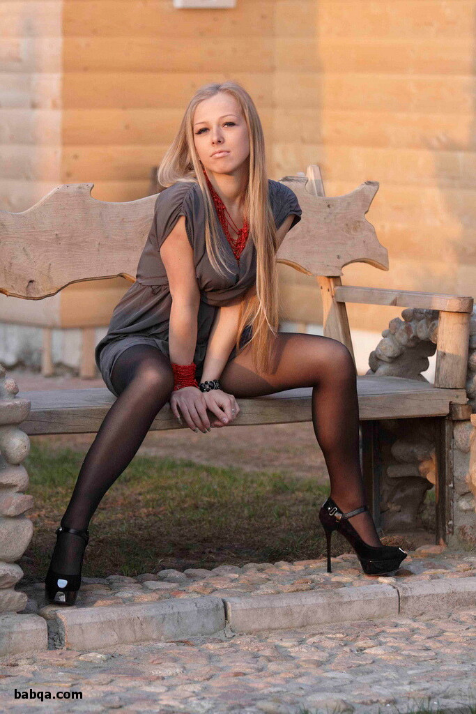 nude lingerie lady and stocking heels pics