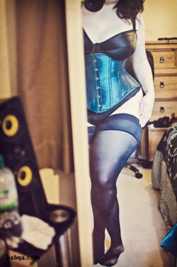 pinstripe stockings and fully fashioned nylon stockings