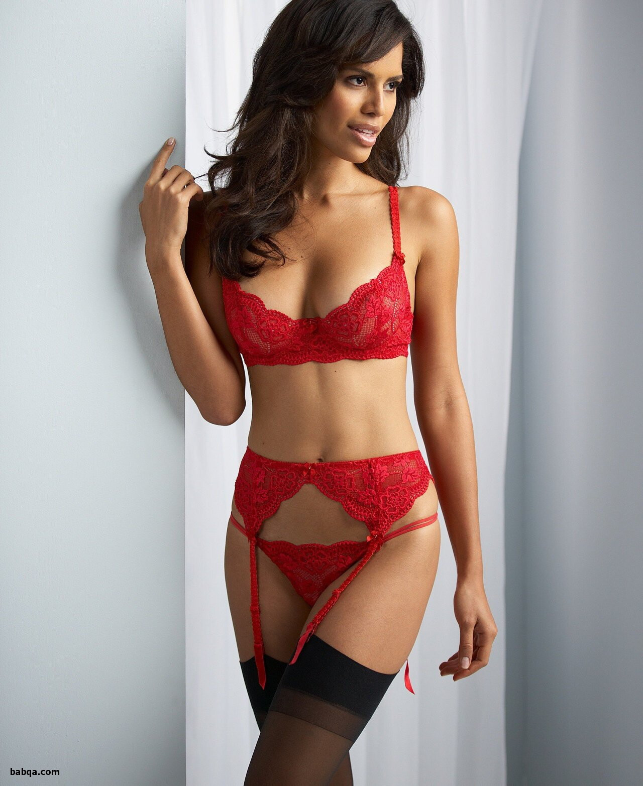 images of women in sexy lingerie and really long thigh high socks
