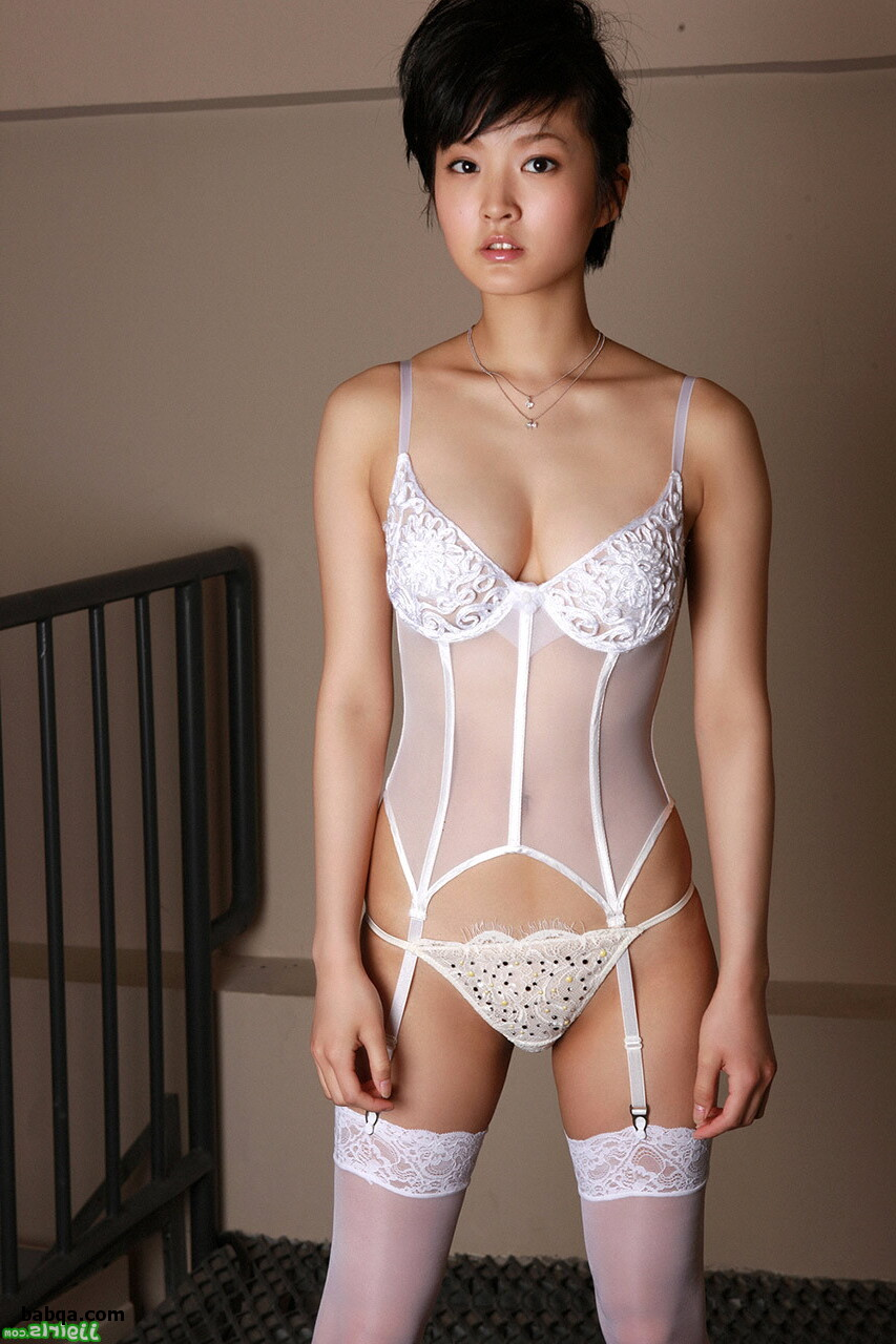 asian girl sexy lingerie and silk stockings for sale