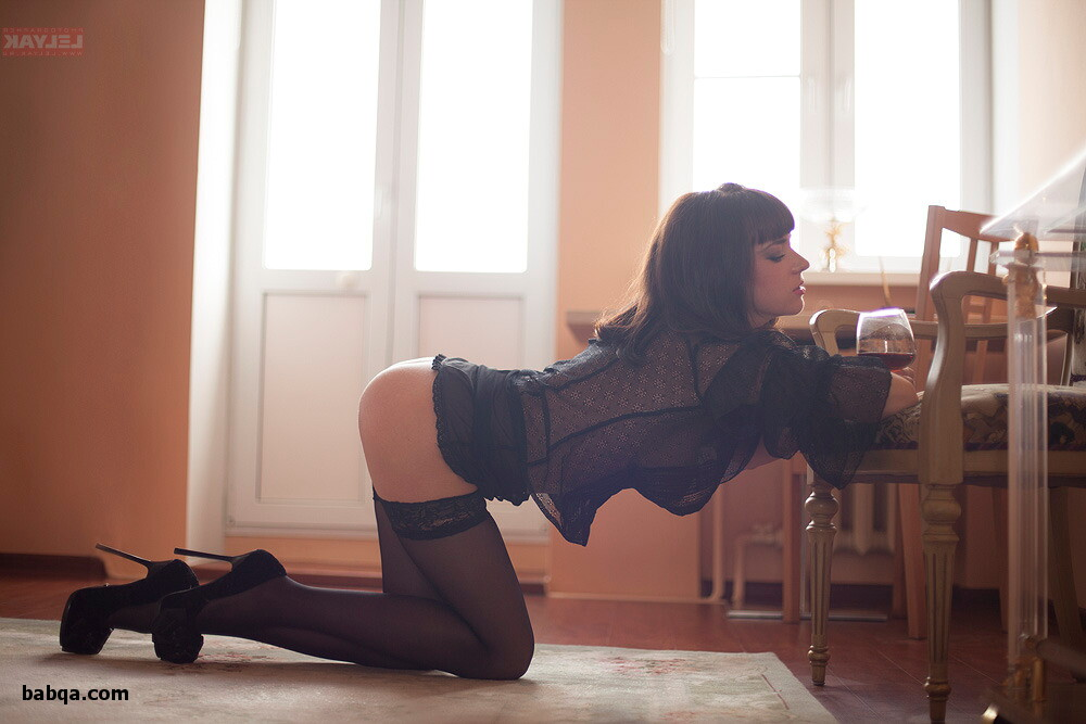 thigh high stockings and boots and women in body stocking