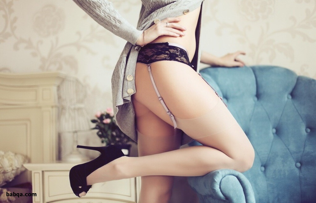 high heels and stockings and ladies lingery