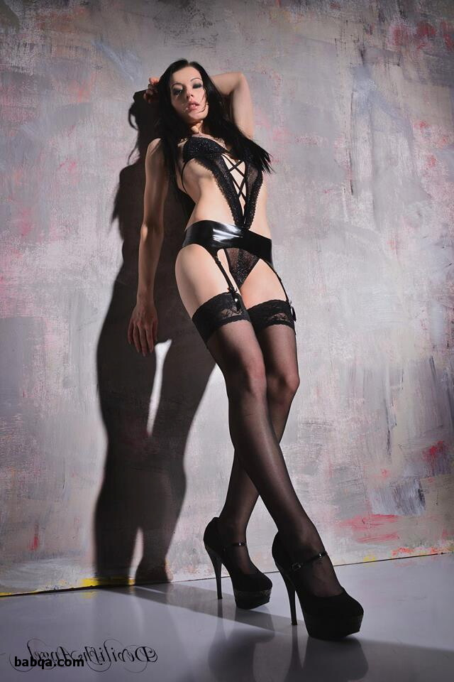 erotic gear and sexy girls in high heels and stockings