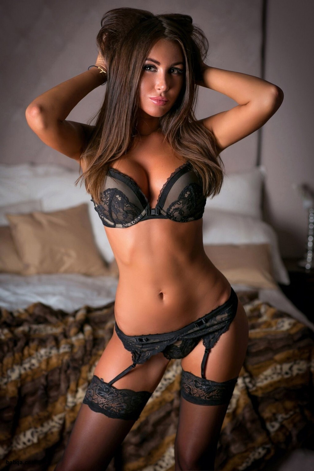 girls with big tits in lingerie and where can i find thigh high stockings