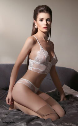 thigh pantyhose and pink bridal lingerie