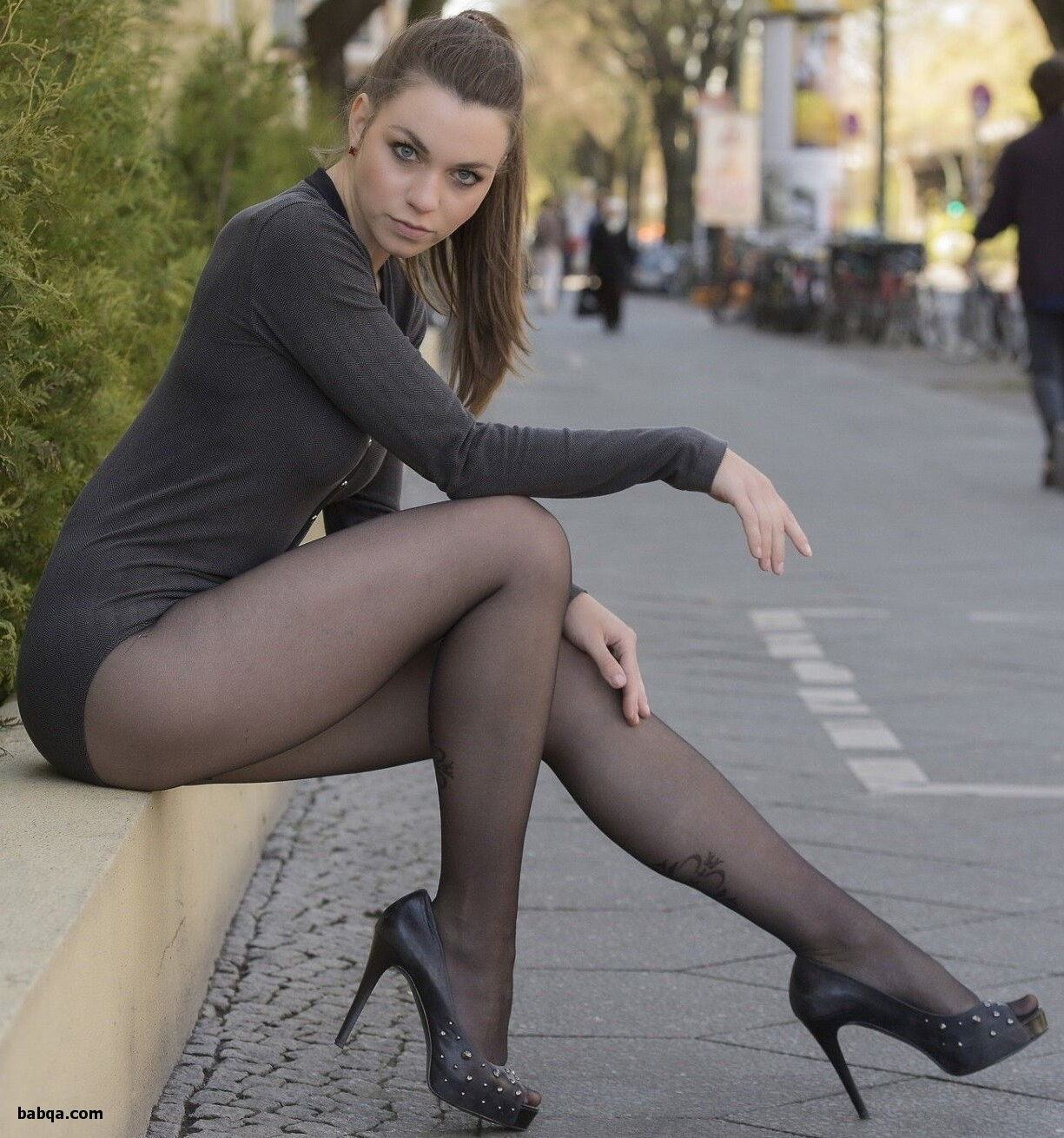 hottest womens underwear and girls in blue stockings