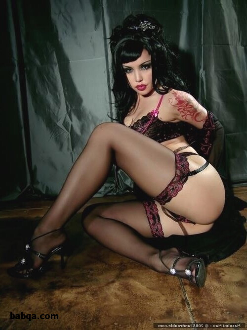 images of women in stockings and ladies in satin lingerie