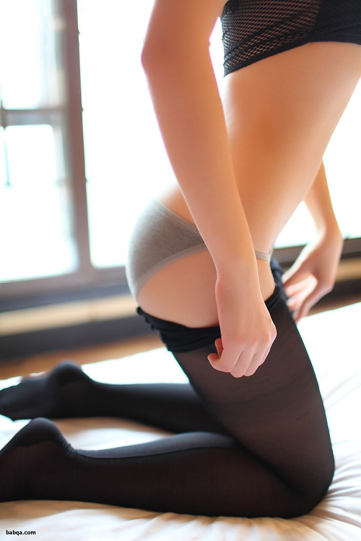 cute girls in stockings and nylon stockings photos