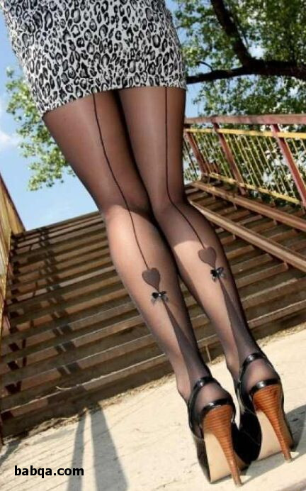 nylon stockings fetish and faux thigh high tights