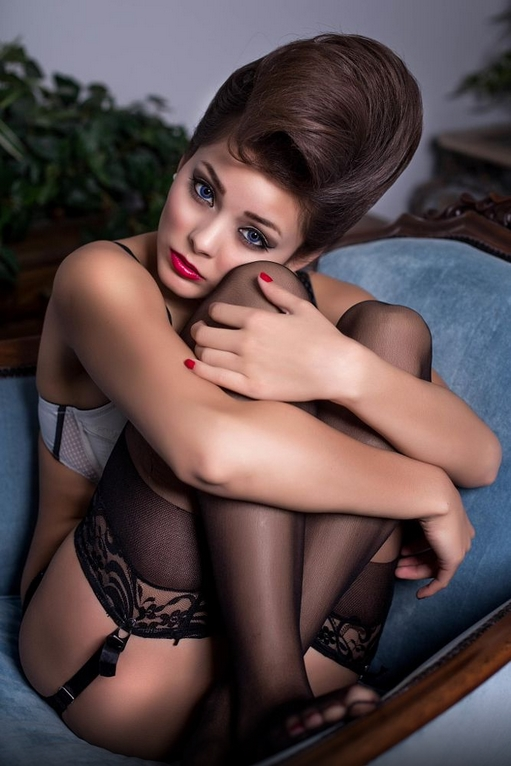 gray thigh high socks and retro lingerie galleries